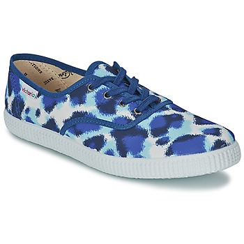 Shoes Women Low top trainers Victoria INGLESA ESTAMP HUELLA TIGRE Blue