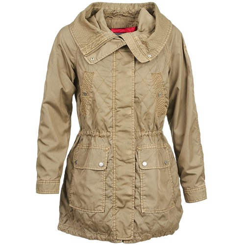 Clothing Women Trench coats Tommy Hilfiger JANINE Beige