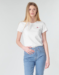 Clothing Women short-sleeved t-shirts Levi's PERFECT TEE White