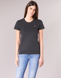 Clothing Women short-sleeved t-shirts Levi's PERFECT TEE Black
