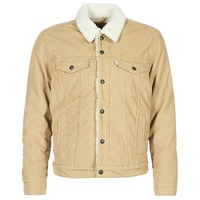 Clothing Men Denim jackets Levi's TYPE 3 SHERPA TRUCKER Beige