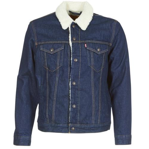 Clothing Men Denim jackets Levi's TYPE 3 SHERPA TRUCKER Rockridge / Trucker