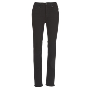 Clothing Women straight jeans Levi's 724 HIGH RISE STRAIGHT  black / Sheep