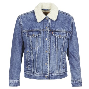 Clothing Women Denim jackets Levi's EX-BF SHERPA TRUCKER To / Love