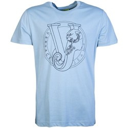 Clothing Men short-sleeved t-shirts Versace T Shirts B3GRB75 K36610 blue