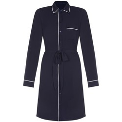 Clothing Women Sleepsuits Anastasia Ex Dorothy Perkins - Women's Piped Shirt Dress Blue