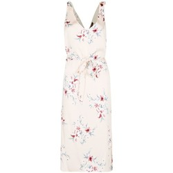 Clothing Women Long Dresses Anastasia Satin Floral Sundress Beige