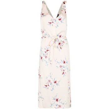 Clothing Women Long Dresses Anastasia - Women's Satin Floral Sundress Beige