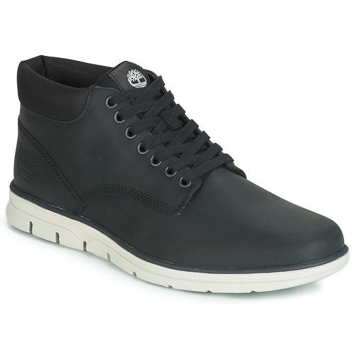 Shoes Men Mid boots Timberland BRADSTREET CHUKKA LEATHER  black