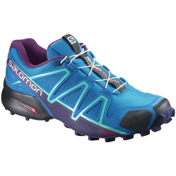 Shoes Women Low top trainers Salomon Speedcross 4 W Blue-Black-Violet