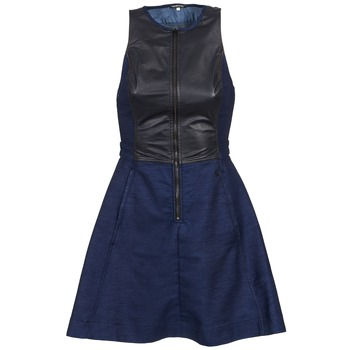 Clothing Women Short Dresses G-Star Raw SUTZIL DRESS Marine / Black