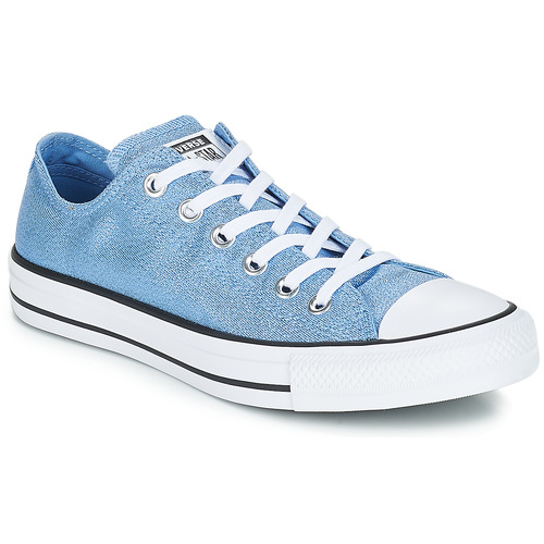 94d2c1d7645 Converse ALL STAR OX Blue - Free delivery with Spartoo UK ! - Shoes ...
