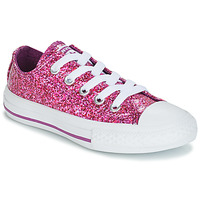 Shoes Girl Low top trainers Converse CHUCK TAYLOR ALL STAR - OX Purple / Glitter