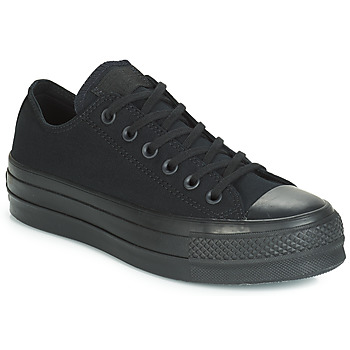 Shoes Women Low top trainers Converse CHUCK TAYLOR ALL STAR CLEAN LIFT MONO CANVAS OX Black