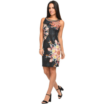 Clothing Women Short Dresses 101 Idees Dress A0125 Black Woman Spring/Summer Collection 2018 Black