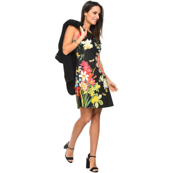 Clothing Women Short Dresses 101 Idees Dress A0864 Black Woman Spring/Summer Collection 2018 Black
