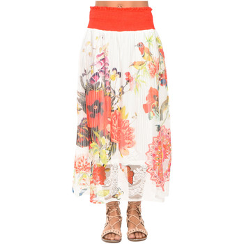 Clothing Women Skirts 101 Idees Skirt W1514 White Woman Spring/Summer Collection 2018 White