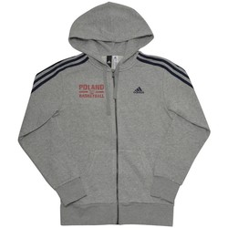 Clothing Men sweaters adidas Originals Essentials 3STRIPES Fullzip Poland Basketball Grey