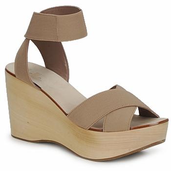 Shoes Women Sandals Belle by Sigerson Morrison ELASTIC Nude