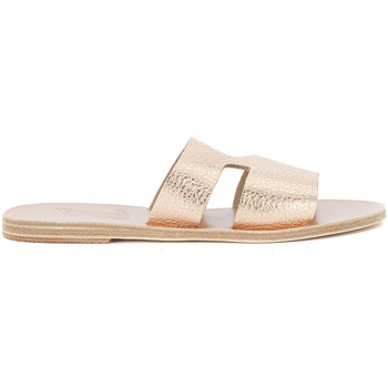 Shoes Women Sandals Ancient Greek Sandals Apteros pink gold leather sandal Pink