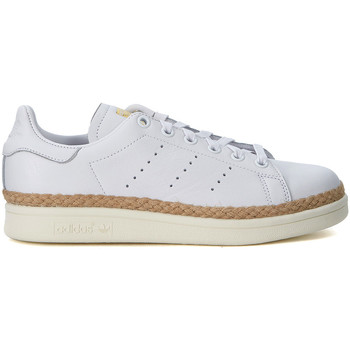 Shoes Women Trainers adidas Originals Stan Smith white leather and jute sneaker White