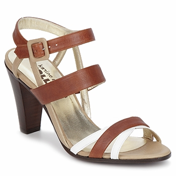 Shoes Women Sandals Karine Arabian JOLLY Cognac / Beige / White
