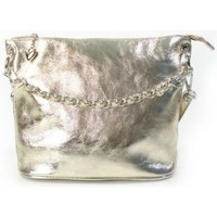 Bags Women Small shoulder bags Vera Pelle LB44ORO Silver-Golden