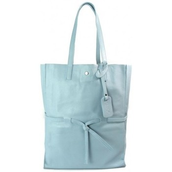 Bags Women Handbags Vera Pelle Xxl Shopper Bag A4 Turquoise-Light blue