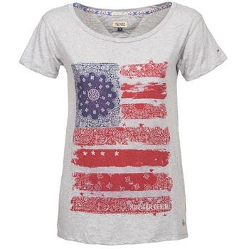 Clothing Women short-sleeved t-shirts Hilfiger Denim CARLIE Grey