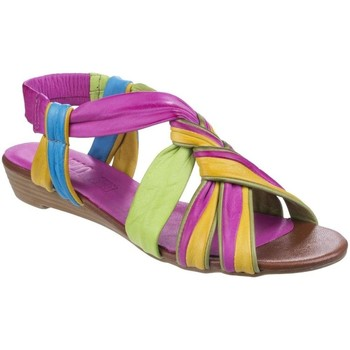 Shoes Women Sandals Riva Cala Leather Womens Strappy Slingback Sandal Multicolour