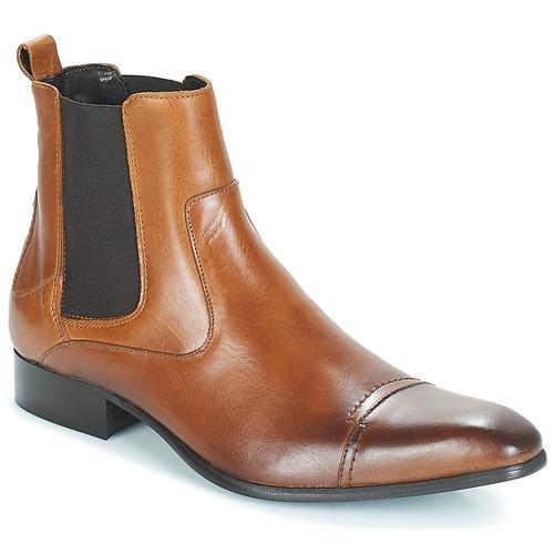 Shoes Men Mid boots Carlington ERINZI Cognac