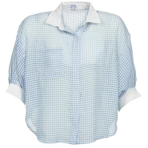 Clothing Women Shirts Brigitte Bardot AMARANTE Blue / White