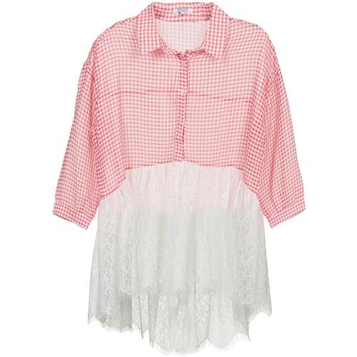 Clothing Women Shirts Brigitte Bardot AMBRE Red / White