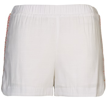 Clothing Women Shorts / Bermudas Color Block ALFREDA White / CORAL