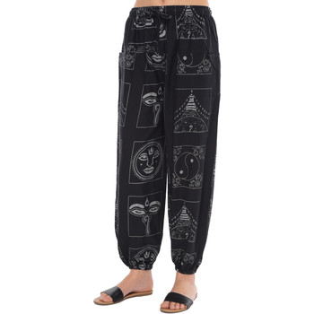 Clothing Women Trousers Couleurs Du Monde Trousers ISIA Black / Silver Woman Spring/Summer Collection 201 Black
