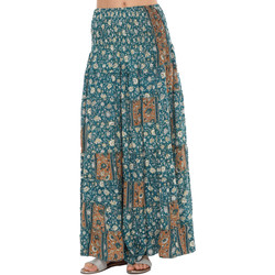 Clothing Women Trousers Couleurs Du Monde Skirt MAEVA Black / Green Woman Spring/Summer Collection 2018 Green
