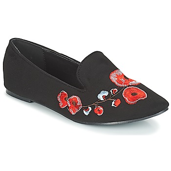 Shoes Women Loafers Moony Mood JASMINY Black / Flower