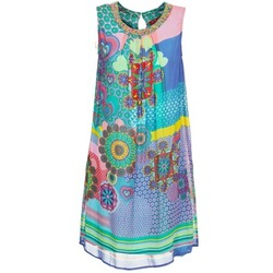 Clothing Women Short Dresses Derhy BARDE Blue / Green / Multicoloured
