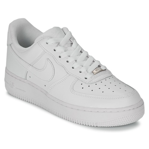 Shoes Women Low top trainers Nike AIR FORCE 1 07 LEATHER White