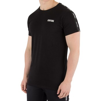 Clothing Men T-shirts & Polo shirts Fresh Couture Men's Tapered T-Shirt, Black black