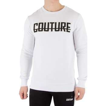 Clothing Men Long sleeved tee-shirts Fresh Couture Men's Applique Sweatshirt, White white