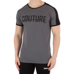 Clothing Men short-sleeved t-shirts Fresh Couture Men's Panel T-Shirt, Grey grey
