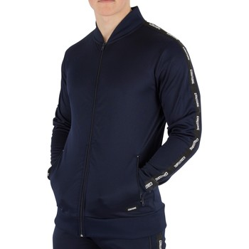 Clothing Men Track tops Fresh Couture Men's Tapered Bomber Jacket, Blue blue