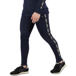 Clothing Men Tracksuit bottoms Fresh Couture Men's Tapered Joggers, Blue blue