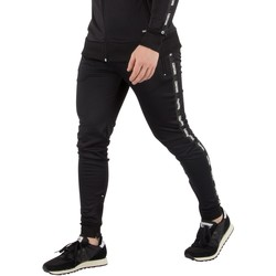Clothing Men Tracksuit bottoms Fresh Couture Men's Tapered Joggers, Black black