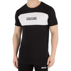 Clothing Men short-sleeved t-shirts Fresh Couture Men's Blocked T-Shirt, Black black