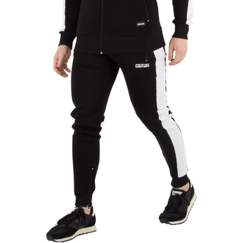 Clothing Men Tracksuit bottoms Fresh Couture Men's Panel Joggers, Black black