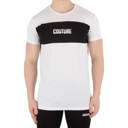 Clothing Men T-shirts & Polo shirts Fresh Couture Men's Blocked T-Shirt, White white