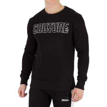 Clothing Men jumpers Fresh Couture Men's Applique Sweatshirt, Black black