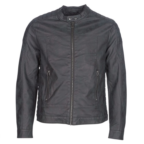 Clothing Men Leather jackets / Imitation leather Esprit VENI Black